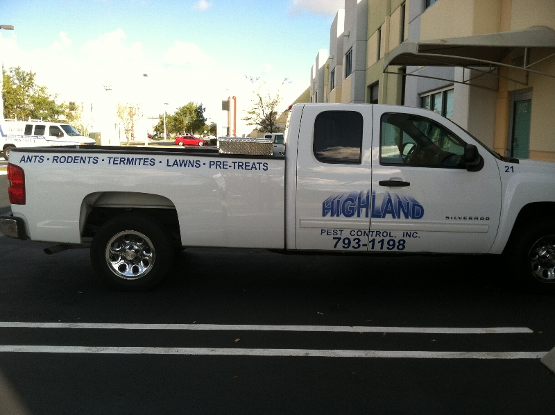 Highland pest photo of completed silverado truck