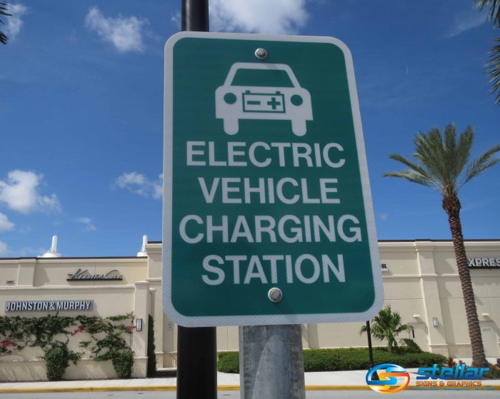 Wifi Signs And Electrical Vehicle Charging Signs For Palm Beach