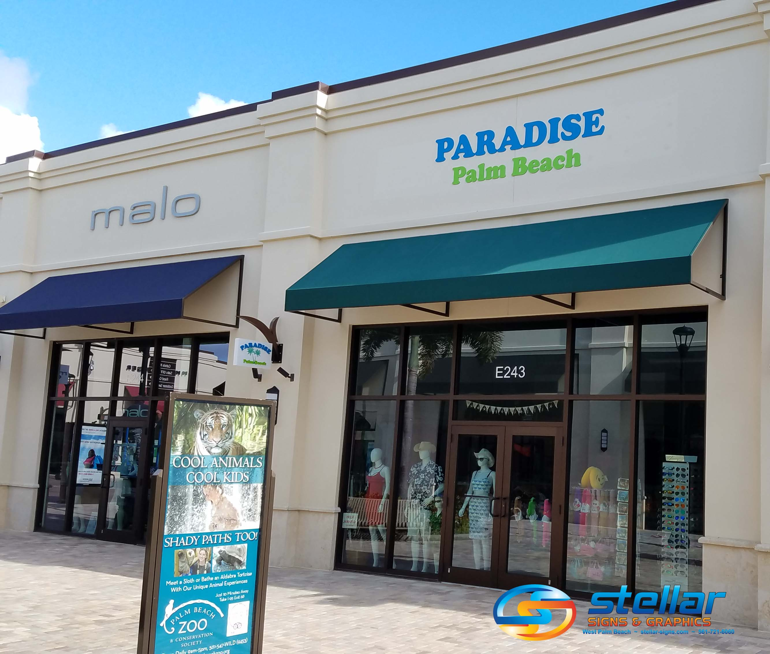 3D Letters and Blade Signs Brand Retailers at Palm Beach Outlet Mall