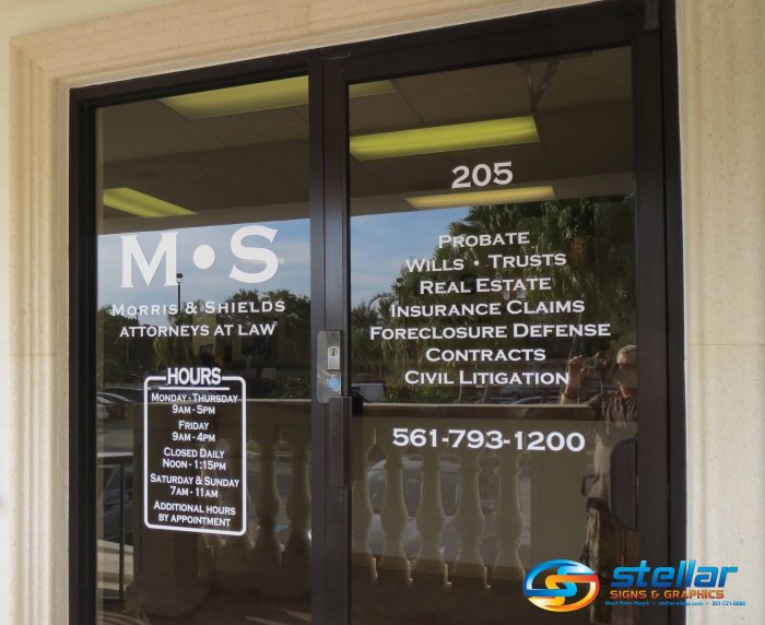Ask Us About Office Signs For Attorneys In Palm Beach